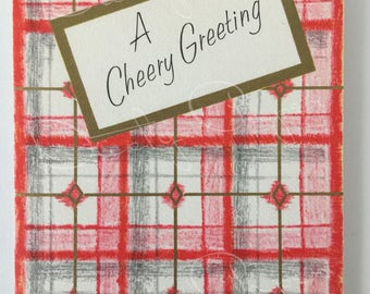 Get Well / Cheery Greeting - Unused Vintage 1950s Hallmark Get Well Card