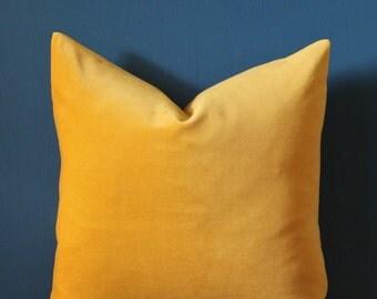 Yellow Velvet Pillow Cover - Mustard Yellow Velvet Pillow Cover - Yellow Pillow Cover - Mustard Yellow Decor - Fall Decor - Autumn Pillow
