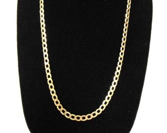 Vintage Estate 10K Yellow Gold Chain Link Necklace 14.8g E984
