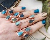 Labradorite Stacking Rings. Labradorite Ring. Stunning Hig Shine Labradorite Rings. Gem Stone Rings. Crystal Rings. Yoga Reiki. Vegan