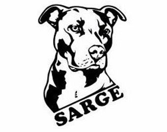 Customization Pitbull Decals for Cars and Walls:   Dog Lover gifts, Pitbulls are good dogs, Pitbull owners, Dog Gifts, Pitbull Decor