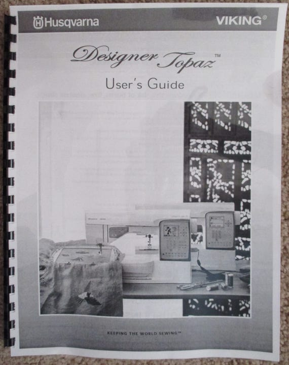 husqvarna viking designer 1 manual