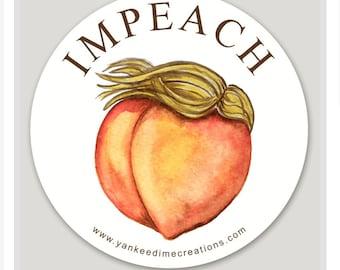 Anti Trump impeach stickers *2 per order* protest stickers, Women's March feminist art, dump Trump artwork, funny protest stickers,