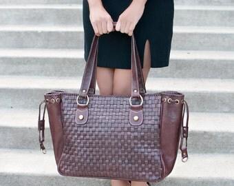 Large leather bag - leather shoulder bag - leather bag women - leather bag brown - leather diaper bag - leather laptop bag 15.6
