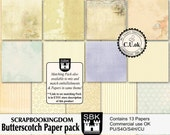CU Paper Pack - BUTTERSCOTCH - matching PU embellishment pack also available in store ( link in the product description)