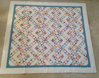 Homemade Queen Size Patchwork Quilt