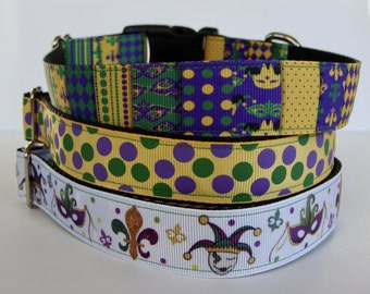 Mardi Gras Dog Collars - READY TO SHIP!