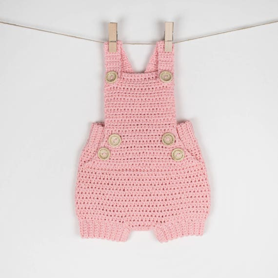 CROCHET PATTERN - Crochet Baby Romper Pure Happiness - Babay Overall - Baby Shoes - PDF