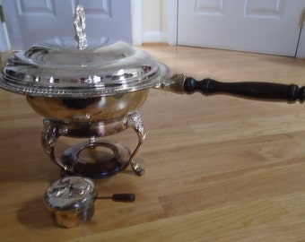 Chafing Dish International  Silver 1993 new complete
