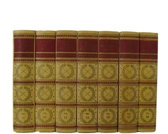 Mark Twain Books, Home Decor,  Yellow Books, Decorative book,  Book Decor, Book Wedding, Old Books