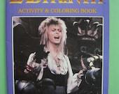 LABYRINTH Activity & Coloring Book 1986 BOWIE HENSON Fun! Vintage! Unused!