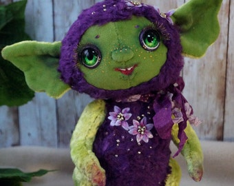 For example!!!  Spring elfgirl Hyacinthб, 6.6 inches (17 centimeters), elf pluch toy.