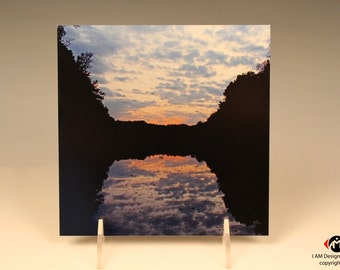 November Sunset on Brushed Aluminum