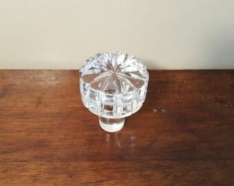 Vintage Large Crystal Decanter Stopper, Vintage Bottle Stopper, Cut Crystal Bottle Stopper, Decanter Lid, Wine Bottle Stopper