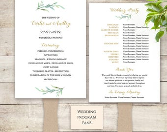 Fan Wedding Program Paddle