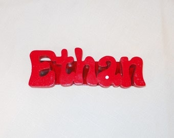 Personalized Fridge Magnet Name, Wooden Magnetic Name, Custom Name