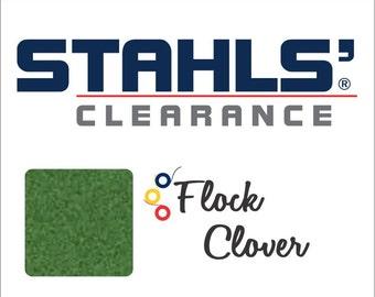 "12"" x 5 Yards - Stahls' Flock - Craft Roll - Iron-on - Heat Transfer Vinyl - HTV - Clover Green"