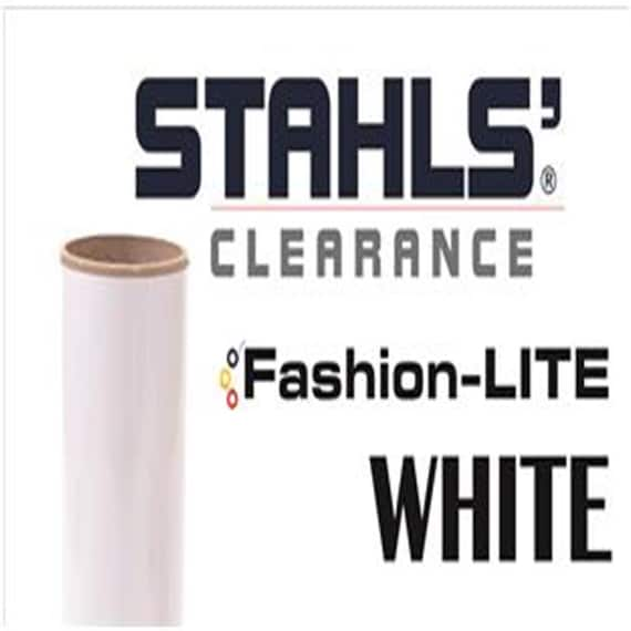 "12"" x 19"" - 15 SHEETS - Stahls' Fashion-LITE - Smooth- Craft Roll - Iron-on  Heat Transfer Vinyl - HTV – White"