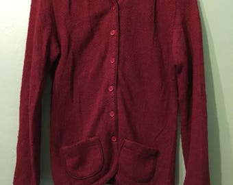 Ana Sweater- Wine Liz Claiborne cardigan
