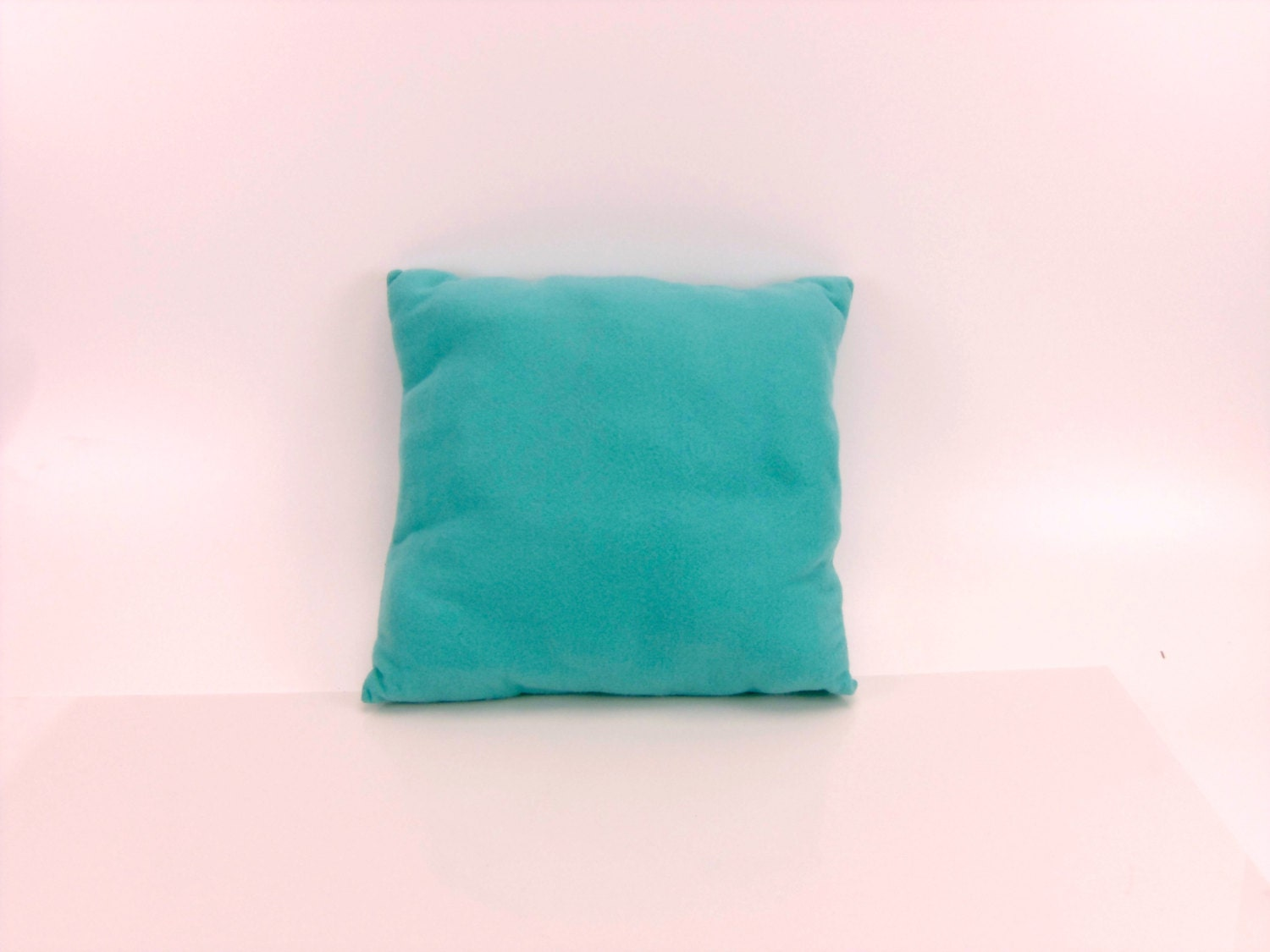 Decorative Bed Pillow Gift For Kids Turquoise Fleece Square