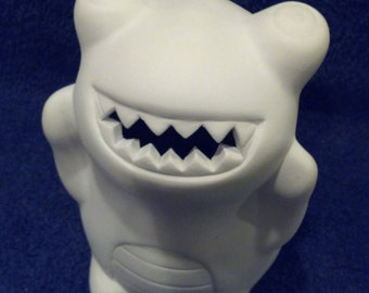 Ceramic Monster Bank.  DIY Unfinished.  eats money, child