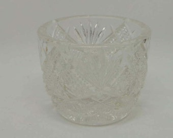 Cut Glass Egg Cup,  Pretty Vintage Egg Cup in Clear Cut Glass