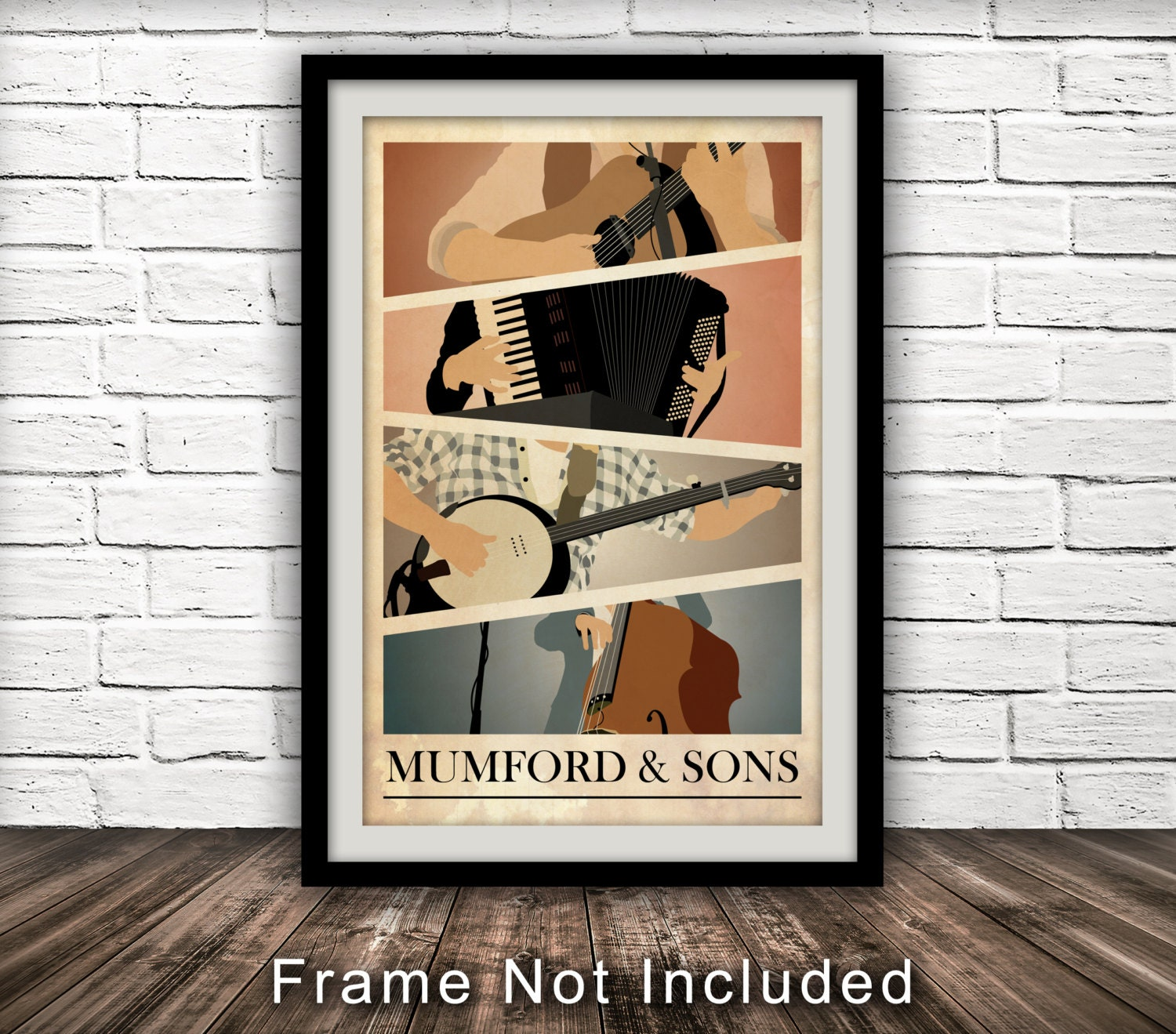 Music Inspired Wall Decor : Mumford and sons inspired poster music wall art