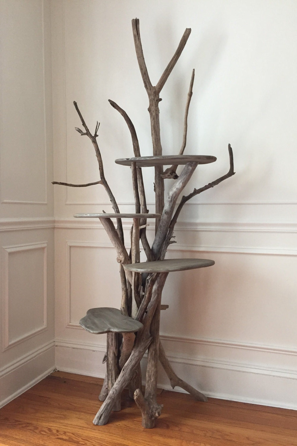 Large Driftwood Cat Climbing Tree Handmade From Reclaimed