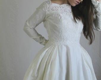 Long sleeve wedding dress   Etsy