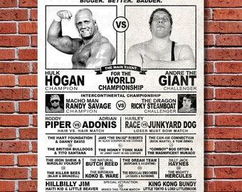 WWF Wrestlemania 3 Event Poster