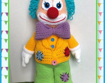 Dewey The Clown Amigurumi (PDF only not the finished doll)