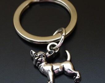 Chihuahua Keychain, Chihuahua Key Chain, Chihuahua Charm, Chihuahua Pendant, Chihuahua Jewelry, Chihuahua Lover, Chihuahua Mom, Dog Keychain