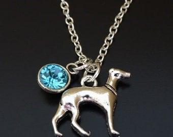 Greyhound Necklace, Greyhound Charm, Greyhound Pendant, Greyhound Jewelry, Greyhound Lover, Miniature Greyhound, Greyhound Dog, Dog Necklace