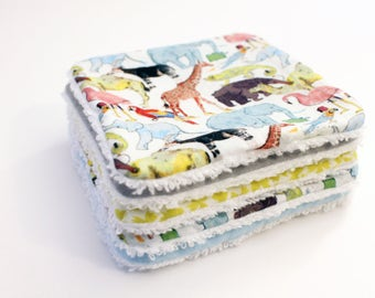 Assortment of five washable wipes