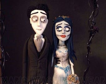 Corpse Bride Bride Corpse Emily Victor Tim Burton wedding Clay Topper