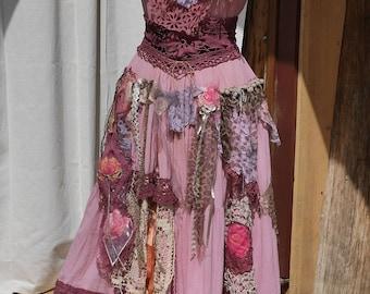 "Beautiful cotton dress ""Milava"", Unique, Art to wear, Boho dress"