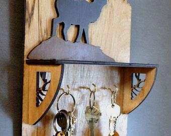 Elk Key Holder & Shelf