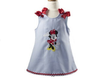 Minnie mouse birthday outfit Girl Minnie Aline birthday outfit,Girl Aline  pique dress Toddler Minnie Aline dress girl Aline dress
