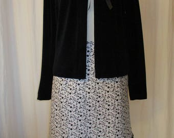 Summer skirt,, Carlotta ' ' White/Black