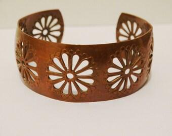 "Vintage Copper 7"" Cuff Bracelet."