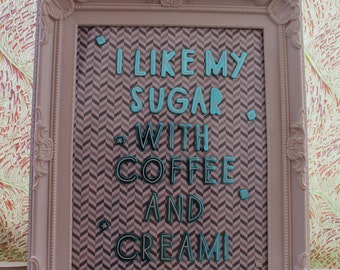 Coffee and Cream Framed Beastie Boys Lyric Picture