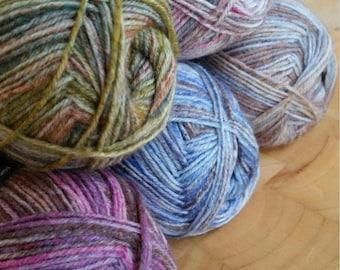 Drops Fabel Long Print sock yarn, 4 Ply , 50g,  205mts, wool and nylon