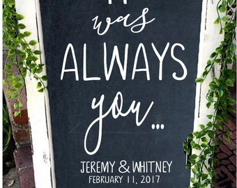 Wedding Decal, Wedding Decor, Wedding Signs, Anniversary Gift, Custom Wedding Decal, Welcome Sign, Wedding Chalkboard, Rustic Wedding