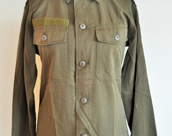 Vintage Khaki Camouflage Military Field Jacket / Army / Navy / Medium / M / Outwear / Hunting
