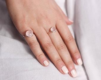 Rose Quartz Ring, Rose Quartz Gold Ring, Gold Gemstone Ring, Rose Quartz Gemstone, Quartz Ring, 14K Solid Gold Ring, Bridesmaid Gift, GR0228