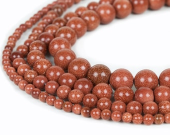 """Gold Sandstone Beads, Full 15.5"""" Strand Natural Round Wholesale 4mm 6mm 8mm 10mm"""