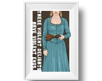 Violent Delights - Art Print - Wall Art - Westworld