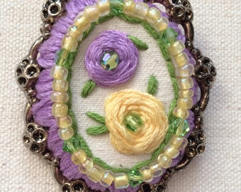 Swarovski Embroidered Brooch