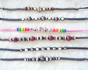 Choose your macrame friedship bracelet, Macrame waxed cord bracelet