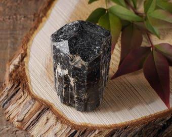 One XL DRAVITE Rough Stone Tourmaline Crystal - Tourmaline Jewelry Making, Raw Tourmaline Pendant, Brown Tourmaline E0420